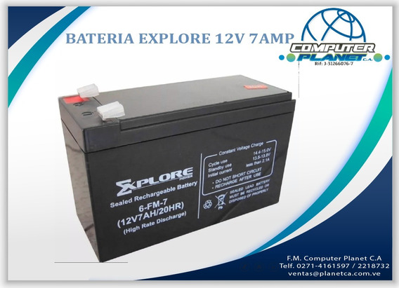 Bateria Recargable Explore 12v 7 Ah Ups Moto Cercado Electri