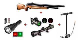 Pack Rifle Pcp M22+bombin+mira Telescopica+linterna+monturas