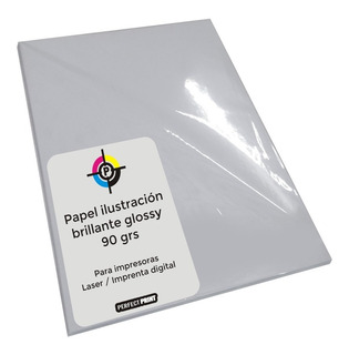 Papel Ilustracion A3 Brillante Glossy 90 Grs 100 Hojas Laser