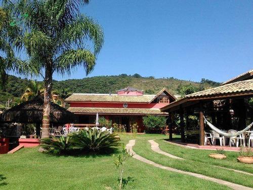 Chácara Com 4 Dormitórios À Venda, 2100 M² Por R$ 2.800.000,00 - Itaoca - Guararema/sp - Ch0006