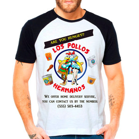 Camiseta Raglan Série Breaking Bad Los Pollos Hermanos