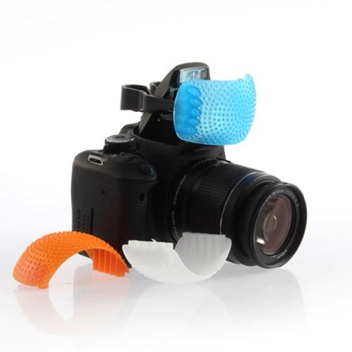 1 Difusor Para Flash Montado En Cámara Fotografia 3 Domos