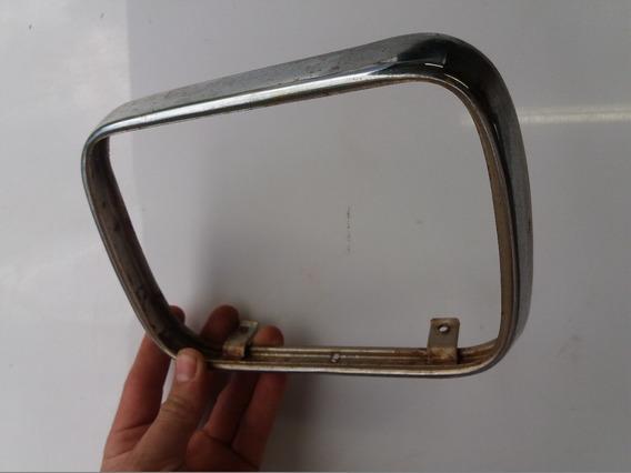 Aro Farol Cb450 Cb400 Retangular Novo Cromado Metal
