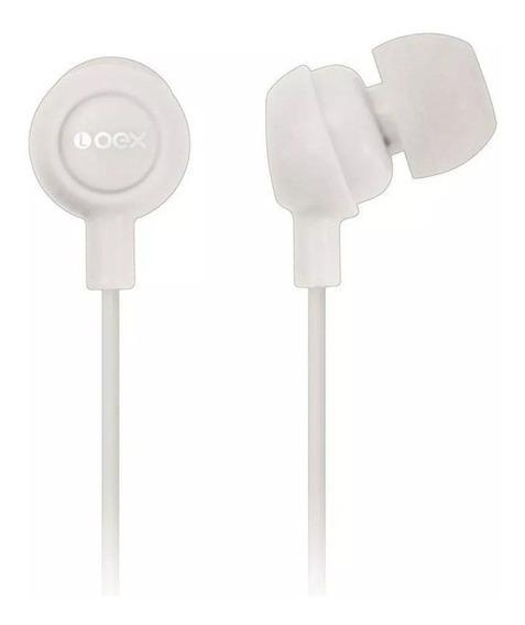 Fone De Ouvido Oex Cabo 1,20m Fn100 Smartphone P2 Branco