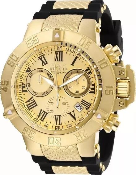 Relógio Invicta Subaqua 16875 Original Banhado Ouro