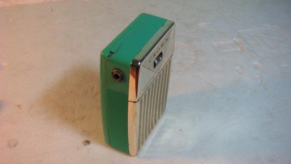 Crown Radio De Bolso Anos 60