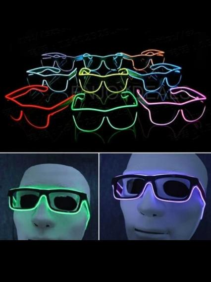 Lentes Led Neon De Pila Con 3 Tipos De Movimiento Plias Aa