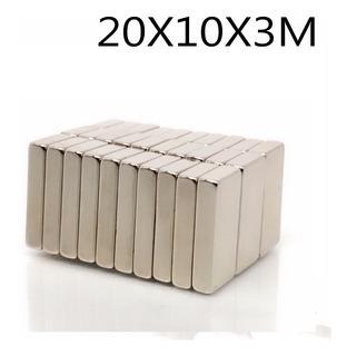 Imanes De Neodimio 20x10x3 / 20mmx10mmx3mm (3 Unidades)