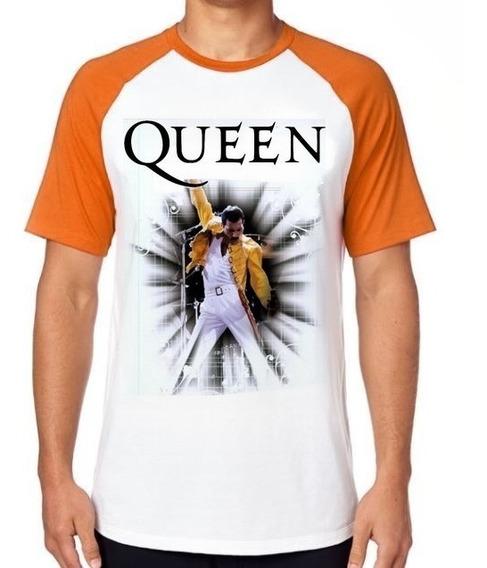 Camiseta Luxo Queen Freddie Mercury Cantor Banda Rock Fredy