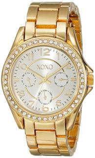 Reloj Xoxo Xo178 Con Diseño De Piedras Preciosas Y Acento