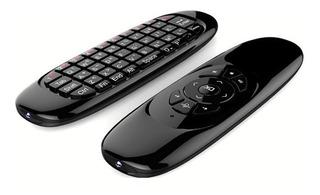 Controle Teclado Air Mouse Sem Fio Com Comando De Voz
