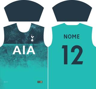 Camisa Tottenham 2019 Vetor - Totalmente Editável