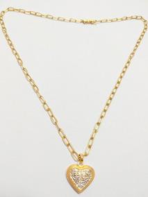 Cartier De Ouro 18k + Pingente Coração