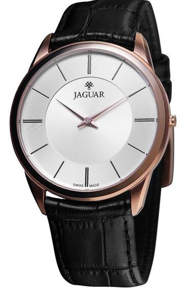 Relógio Jaguar J020arl03 S1px Mostrador Prata Pulseira Preta
