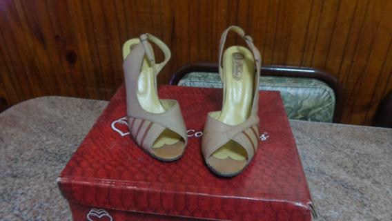Zapatos De Cuero Talle 39 Taco 9 Cm