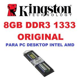 Memória Kingston Ddr3 8gb 1333 Mhz Desktop 16 Chip Intel Amd