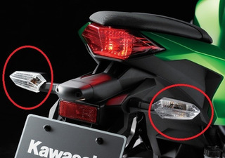 Pisca Seta Traseira Kawasaki Ninja 300 Modelo Original Par