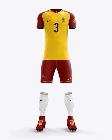 Mockup Futebol Yellow Images Camisa Gola V Nike (4 Modelos)
