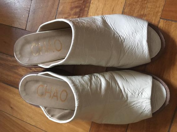 Zuecos Cuero Tiza Chao Shoes 36