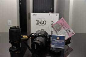 Câmera Fotográfica Dslr Nikon D40+lentes 55-200mm E 18-55mm