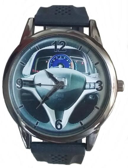 Relógio Pulso Personalizado Foto Volante Painel H Cívic