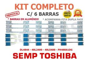 Kit Barras De Led Dl4844 Dl4845 48l2400 48l5400 Em Aluminio