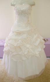 Vestido De Noiva 40 Salmão Princesa Pronta Entrega - Vn00214