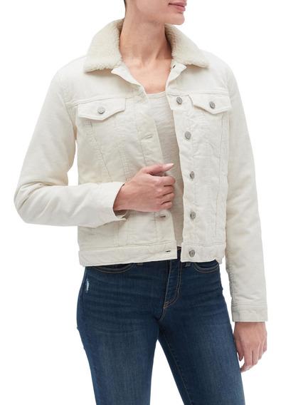 Chaqueta Mujer Jeans Chiporro Blanco Gap
