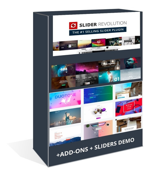 Slider Revolution Wordpress Plugin V6.0.8 + Add-ons + Pack