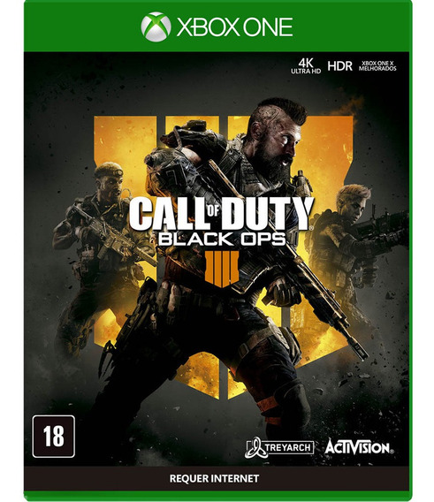 Game Call Of Duty Black Ops 4 Xbox One Mídia Física Lacrado