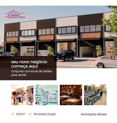 Salão À Venda, 100 M² Por R$ 540.000,00 - Alvinópolis - Atibaia/sp - Sl0009