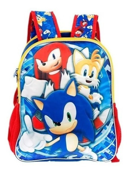 Mochila Sonic Doble Vista Primaria Backpack Tz293