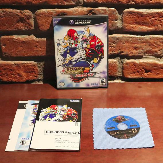 Sonic Adventure 2 Battle Black Label Original Americano Completo Gamecube Wii