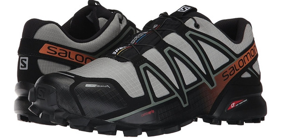 Salomon Speed Cross 4 Hombre, Running Amarilla, Gris Salas