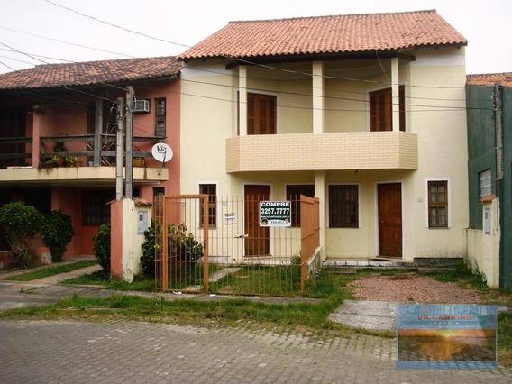 Villarinho Imóveis Vende Casa Estilo Sobrado - 3 Dormitórios, Pátio E Churrasqueira 81 M² Por R$ 280.000 - Aberta Dos Morros - Porto Alegre/rs - Ca0603
