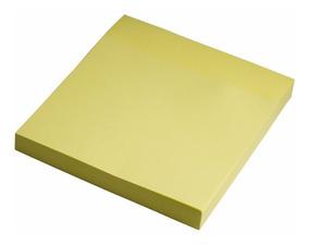 Bloco Adesivo Post It Recados 76mmx76mm Amarelo Pct C/ 10 Bl