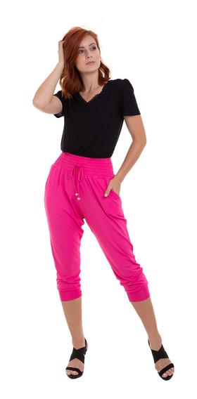 Calça Malha Lastex Pink Kinara