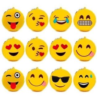 Kit Com 10 Chaveiro Pompom Emotion Whatsapp De Pelucia