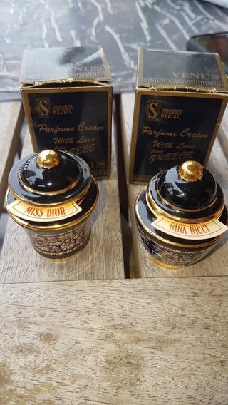 Miniaturas Porcelanas De Perfume Crema Miss Dior Nina Ricci