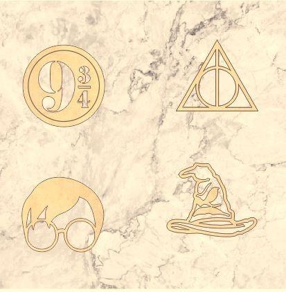 Kit 04 Descanso De Panelas Harry Potter