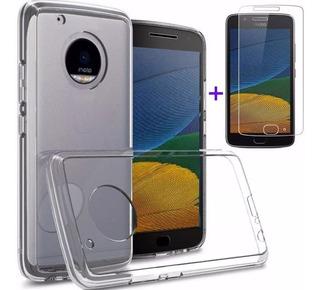 Capinha Motorola Moto G5 Tela 5.0 Xt1672 + Película Vidro