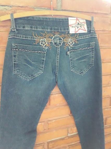 Calça Jeans Planet Girls Bordada Tamanho 36