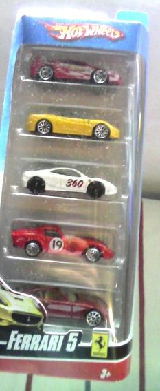 Carros Hotwheels Pack 5 Originales Mattel Ferrari 20 Verdes