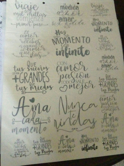Calcos Vitrificables Frases