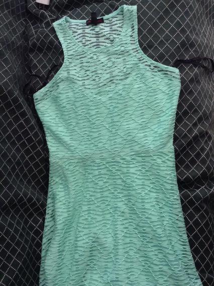 Vestido/material Girl/verde Neón