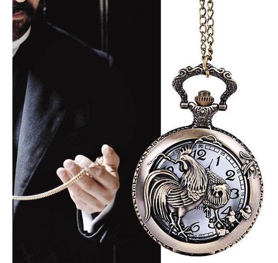 Relógio De Bolso Clássico Quartzo Roman Vintage Retro