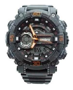Relógio De Pulso Umbro Umb-119-3 Laranja Borracha