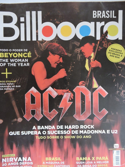 Revista Billboard N 2-ac/dc,beyonce,mutantes,rita Lee