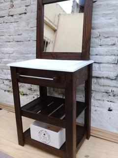 Vanitory+bacha +espejo De 63cm