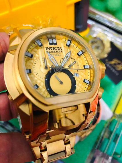 Relogio Invicta Bolt Zeus Dourado + Caixa Original